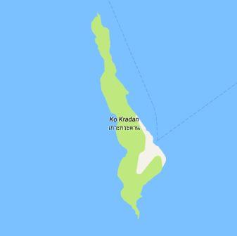 Ko Kradan map