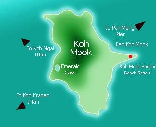 Ko Muk Map