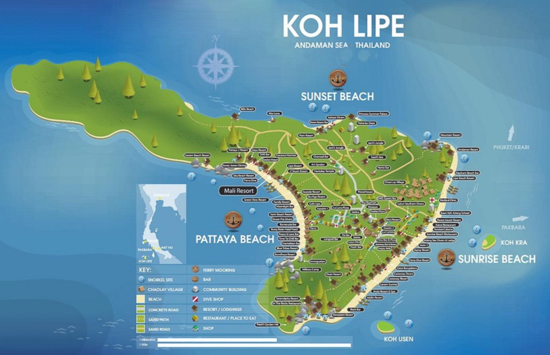 Carte Koh Lipe