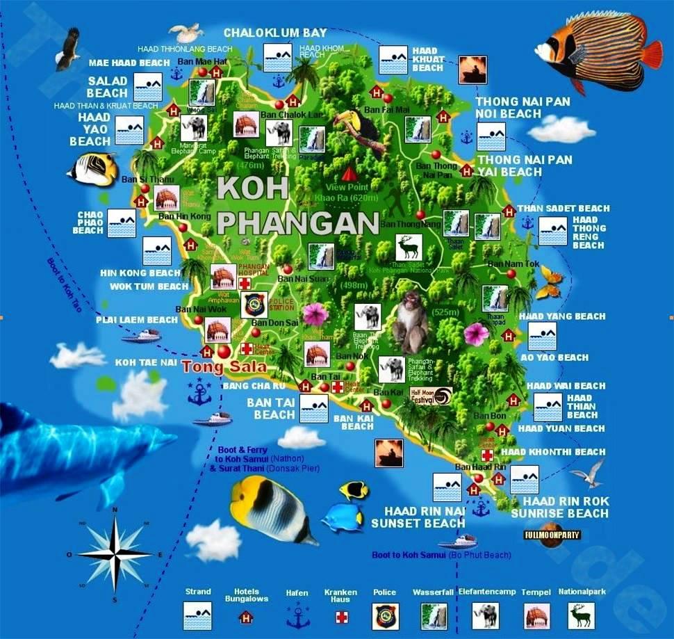 Carte touristique Koh Phangan