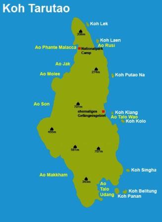 Ko Tarutao map