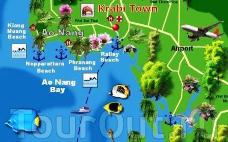 trajet bangkok - krabi