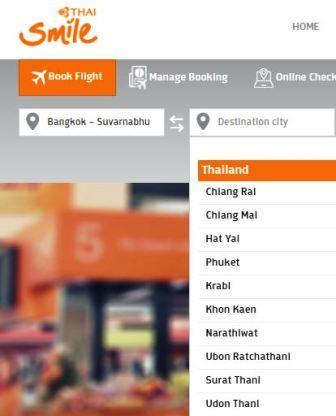 Vol bas prix Thaïlande