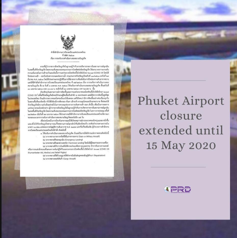 COVID 19 Fermeture aéroport Phuket
