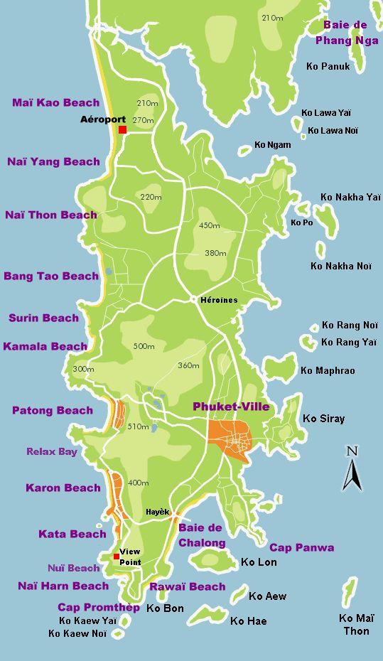Carte phuket plus belles plages